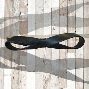 ANN TAYLOR Black Bow Belt SZ XS/S